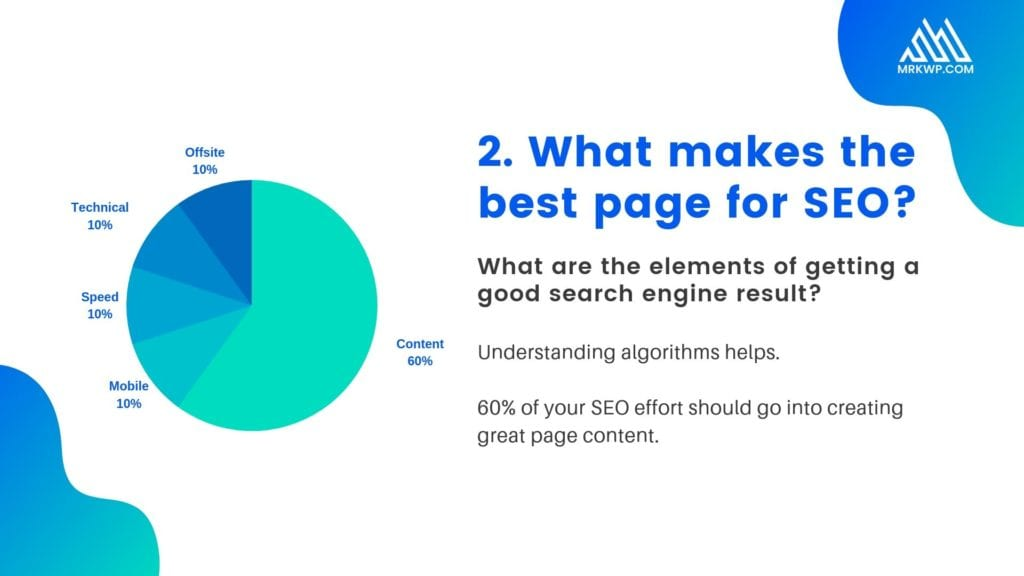 What makes the best page for SEO?