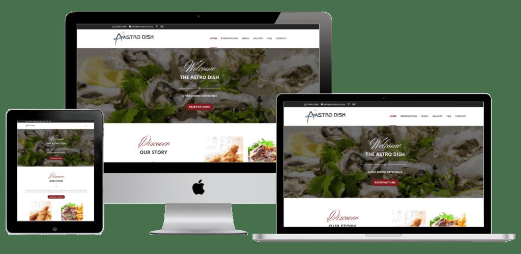 Astrodish Restaurant Website